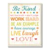 Stupell Industries The Kids Room Be Kind Tell The Truth Typography Rectangle Wall Plaque