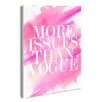 Stupell Industries lulusimonSTUDIO More Issues Than Vogue Typography Wrapped Canvas Wall Art