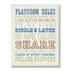 Stupell Industries The Kids Room Blues Playroom Rules Typography Wall Plaque