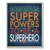 Stupell Industries The Kids Room Superhero Wall Plaque