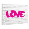 Stupell Industries lulusimonSTUDIO Love Graffiti On White Brick Wall Plaque