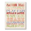 Stupell Industries The Kids Room Playroom Rules Typography Wrapped Canvas Wall Art
