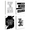 Stupell Industries Inspirational Typography by lulusimonSTUDIO Textual Art Plaque (Set of 4)