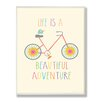 Stupell Industries The Kids Room Life is a Beautiful Adventure Typography by Ellen Crimi-Trent Graphic Art Plaque