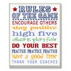 Stupell Industries The Kids Room Rules of the Game Blue Outline Typography by Reesa Qualia Textual Art Plaque