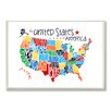 Stupell Industries USA Map Textual Art Plaque