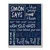 Stupell Industries Simon Says Bathroom Typography Rules Textual Art Plaque