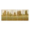 Stupell Industries Trees in a Park 5 pc by Tim O'Toole Graphic Art on Wrapped Canvas Set