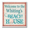 Stupell Industries Personalized Beach House Sand Dollar by Janet White Textual Art Plaque