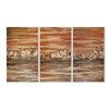 Stupell Industries The Waterfront Triptych 3 pc Painting Print Plaque Set