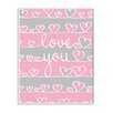 Stupell Industries The Kids Room Love You Pink and Gray Hearts Wall Plaque