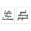 Stupell Industries LulusimonSTUDIO Hello There Good Morning Wall Art