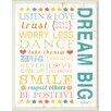 Stupell Industries The Kids Room Dream Big Kids Typography Wall Plaque