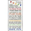 Stupell Industries The Kids Room Rainbow Playroom Rules Wall Plaque