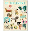 Stupell Industries Be Different Whimsical Dogs by Claudia Schoen Graphic Art Plaque