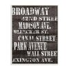 Stupell Industries Broadway Distressed New York City Streets by World Art Group Textual Art Plaque