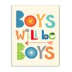 Stupell Industries The Kids Room Boys will Be Boys with Arrow Wall Plaque