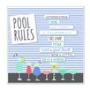Stupell Industries 'Pool Rules Typog and Icons' Graphic Art Plaque