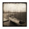 Stupell Industries 'Stranded Boat Morning' Photographic Print on Canvas