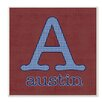Stupell Industries Personalized Letter is for Name Houndstouth Wall Décor