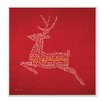 Stupell Industries Merry Christmas Reindeer Textual Art Plaque