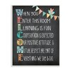 Stupell Industries Welcome Acrostic Rainbow Chalk Wall Plaque