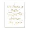 Stupell Industries She Leaves a Little Spark Gold Graffiti Wall Plaque