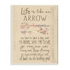 Stupell Industries Life Is like An Arrow' Icon Inspirational Typography Wall Plaque