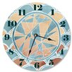 """Stupell Industries 12"""" Teal and Coral Geometric Shapes Vanity Clock"""