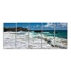 Stupell Industries 'Breaking Waves Coastal Scene Stretched' by Danny Head 5 Piece Photographic Print on Canvas Set