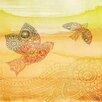 Parvez Taj Love Birds by Parvez Taj Graphic Art on Wrapped Canvas