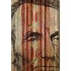 Parvez Taj Abe Lincoln - Art Print on Natural Pine Wood