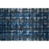 Parvez Taj Crowded Blue Graphic Art on Brushed Aluminum