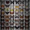 Parvez Taj Rows of Wings Graphic Art on Brushed Aluminum