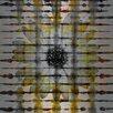 Parvez Taj Daisy Window Graphic Art on Brushed Aluminum
