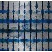 Parvez Taj White Flower Squared Graphic Art on Brushed Aluminum