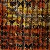 Parvez Taj Zebra Swallows-Wall Art on Natural Pine Wood