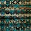 Parvez Taj Moth Teal Painting Print