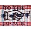 Parvez Taj Beach Pointer Graphic Art Plaque