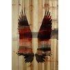 """Parvez Taj Birds & Butterflies """"Red Wings"""" Painting Print"""