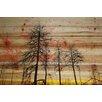 "Parvez Taj Landscape & Nature ""Tree Skeletons"" Painting Print"