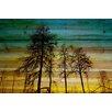 "Parvez Taj Landscape & Nature ""Emerald Sky"" Painting Print"