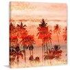 """Parvez Taj Landscape & Nature """"Orange Sky"""" Painting Print on Wrapped Canvas"""