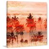 Parvez Taj Orange Sky Painting Print on Wrapped Canvas