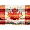 "Parvez Taj Global ""Canadian Leaf"" Painting Print"