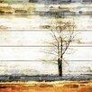 "Parvez Taj Landscape & Nature ""Lone Tree"" Painting Print"