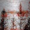 "Parvez Taj Landscape & Nature ""Orange Hue"" Painting Print"