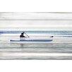 "Parvez Taj Lake & Lodge ""Canoe on Calm Lake"" Painting Print"