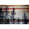 Parvez Taj Red Striped Sky Painting Print Plaque