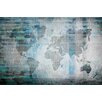 Parvez Taj The World in Blue Graphic Art on Wrapped Canvas